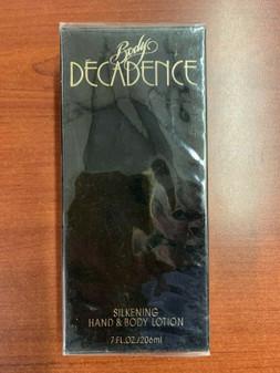 Decadence BODY LOTION 7.0 Fl. Oz. 206ml DISCONTINUED RARE! NEW VINTAGE ORIGINAL!