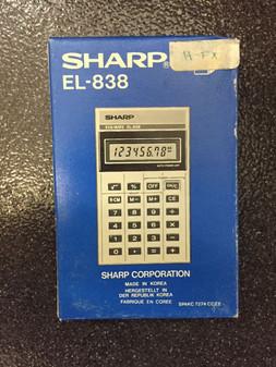 EL-838 - Early 80's Sharp EL-838 BRAND NEW IN BOX RARE MADE IN KOREA ORIGINAL!