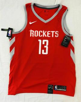 NIKE NBA HOUSTON ROCKETS JAMES HARDEN JERSEY ICON EDITION AUTHENTIC MENS 52 XL