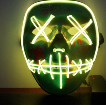 LED Purge Mask Stitches Wire Rave NEW YEAR Cosplay Edm USA SELLER FAST SHIPPING!