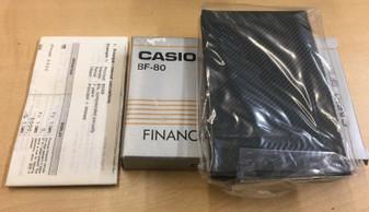 CASIO BF-80 BF80 FINANCIAL CALCULATOR EASY BANKER 1980 LCD JAPAN VINTAGE RARE
