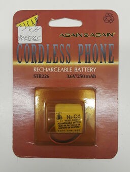 Again & Again STB226 Cordless Phone Rechargeable Battery (BRAND NEW!)