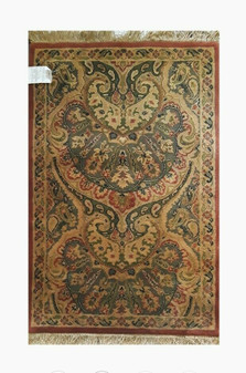 4' x 3' Jaipur Double Weft 85591 100% Wool Pile Hand Knotted Carpet (Brand New!)
