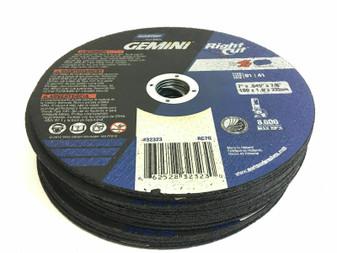 """Norton Gemini Right Cut Set of 25 Cut Off Metal Wheel 7"""" x 7/8"""" x .045"""" 32323"""