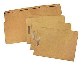 STAPLES HEAVY DUTY REINFORCED 2-FASTENERS KRAFT LEGAL FOLDERS 50/BOX BEST PRICE!