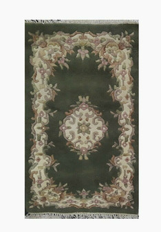 3' x 5' Jaipur Double Weft 7171 100% Wool Pile Hand Knotted Carpet (Brand New!)