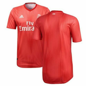 ADIDAS OFFICIAL REAL MADRID THIRD JERSEY PARLEY MEN'S 2019 Vivid Red  SZ 28
