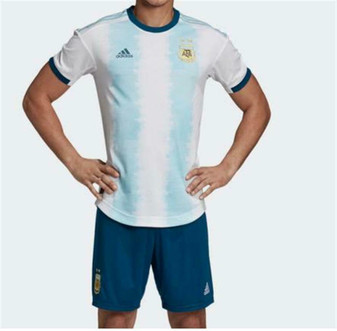 ADIDAS LIONEL MESSI ARGENTINA HOME WORLD CUP JERSEY AND SHORTS NEW WITH TAGS!