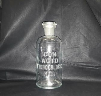 1888 Con Acid Hydrocholoric HCL Pharmaceutical Glassware by T.C. Wheaton Beaker