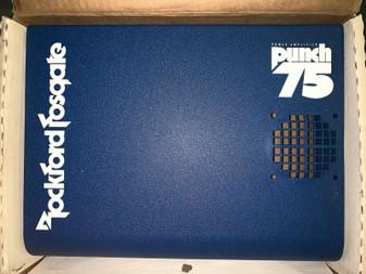 Rockford Fosgate Punch 75 amp shroud - new in box! Blue w/ White OLD SCHOOL!