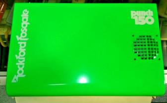 Rockford Fosgate Punch 150 amp shroud - new in box! Green w/ White OLD SCHOOL!