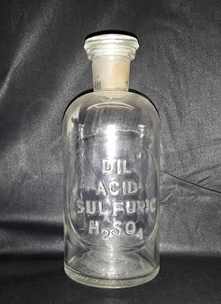 1888 DIL Acid Sulfuric H2 SO4 Pharmaceutical Glassware by T.C. Wheaton Beaker