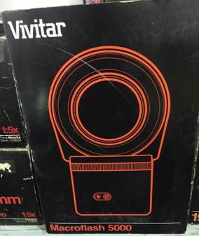 Vivitar Macroflash 5000 Macro Flash Ring includes 49 52 55mm Adapter Ring NEW!!!