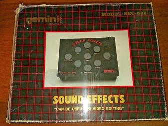 GEMINI SOUND EFFECTS DJ Mixer SEC-900 | OPERATIONAL MANUAL | MINT CONDITION 1990