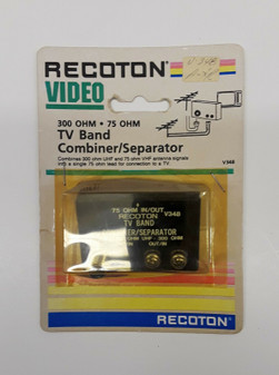 Recoton V348 300 ohm TV Band Combiner/Seperator (BRAND NEW!)