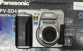 Panasonic PalmCam PV-SD4090 1.3MP Digital Camera - Black Silver