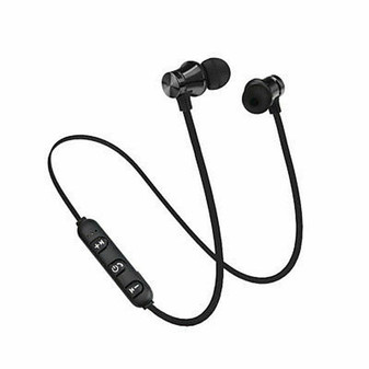 Bluetooth Earphone Stereo Headset Wireless Magnetic Earbuds for Samsung Iphone