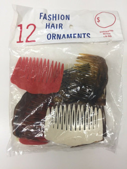 New Fashion Wheel Fork Comb Plate Pin Clip Ornaments Hair Accessory 12 pack pcs
