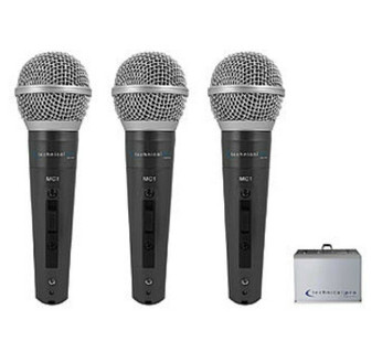 Technical Pro MC1 3-Piece Digital Processing Wired Microphones (Brand New!)