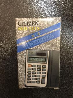 CITIZEN POCKET Calculator SLD-711N Solar Rare Model BRAND NEW IN BOX