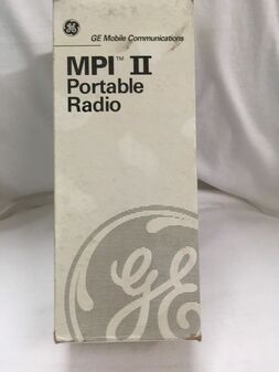 GE Walkie-Talkie Handheld Portable Two-Way Radio MPI-II 2 Ericsson VHF NEW