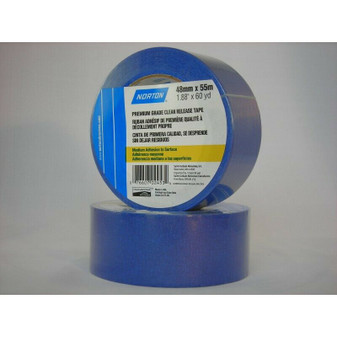 """Norton 02453 2"""" Blue Painters Tape, 60 Yards/Roll, Case of 24"""
