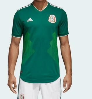 MEXICO HOME SOCCER JERSEY AND SHORTS 2018/2019 - HOME / AWAY - BLANK