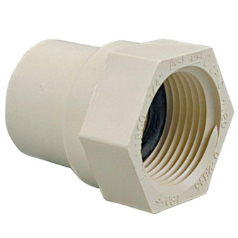 """1/2"""" INCH PVC Insert Pipe Fitting CTS 2102 Slip FPT FEMALE ADAPTER SOCKET Qty 10"""