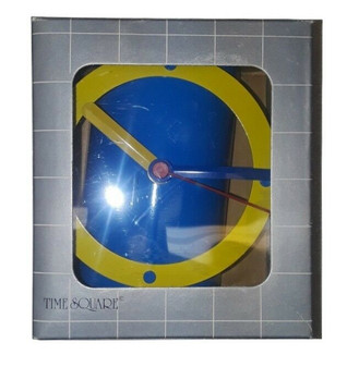 Time Square 2 Functions Fashionable Timepiece Metal Wall & Table Clock (New!)