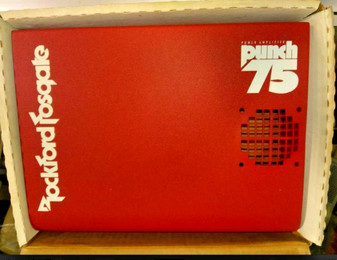 Rockford Fosgate Punch 75 amplifier cover amp shroud new in box! RED COVER RARE