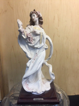 "Giuseppe Armani FLORENCE Sculpture ""Cedraschi"" LADY FLOWERS 768-S new! mint!"