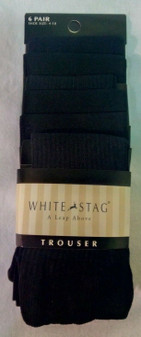 Black Socks for Women | White Stag Shoe Size 4-10, Sock Size 9-11 | Six Pairs