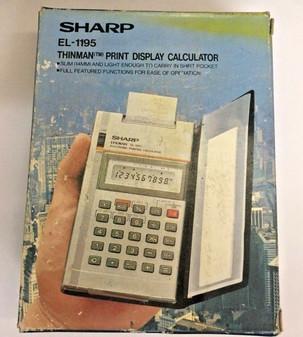 Sharp EL-1195 Vintage Electronic Printing Calculator BRAND NEW! Free Shipping