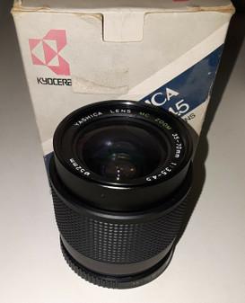 Yashica (Kyocera) MC 35-70/f3.5-4.5 Interchangeable Macro Lens (BRAND NEW!)