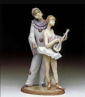 Lladro 5821 Minstrel's Love Porcelain Figurine | Hand Made in Spain (New!)