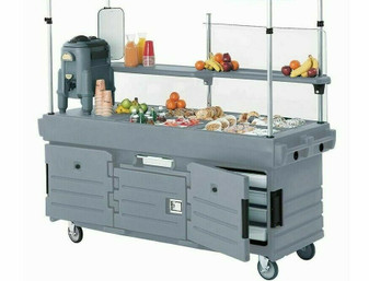 CAMBRO CamKiosk® Portable Salad bar, Food Serving Station, Catering w wheels