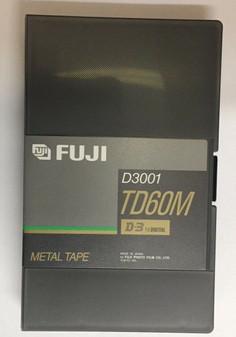 NEW -  Fuji film D-3 D3001 1/2 inch Digital Metal Videocassette -TD60M