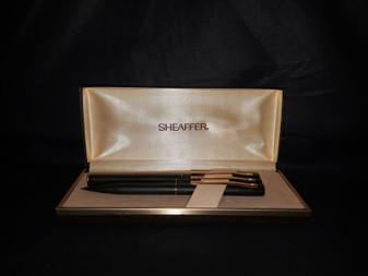 Vintage Sheaffer TRZ60 Black & Gold 3-Piece Writing Instrument Set (Brand New!)