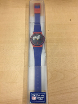 VINTAGE GIANTS Officially Licensed NFL WATCH SWISS NEW!!! RARE! MUST SEE