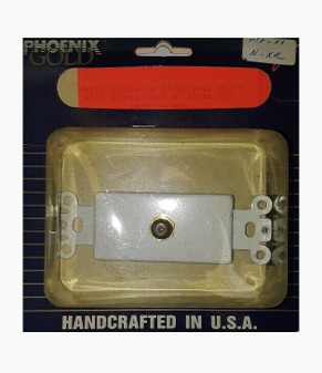 Phoenix Gold WF11 | White Decorator Style Wall Plate | RF Coax Connector (New!)