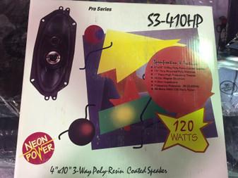 """NEW PRO SERIES S3-410HP 4X10"""" 3 WAY 120W CAR SPEAKERS NEW 4 X 10 """""""