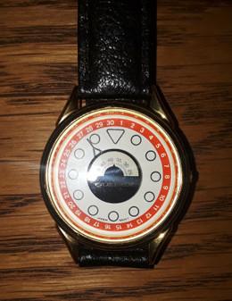 New Quemex Japan Movement Quartz Watch w/Brown Genuine Leather Strap