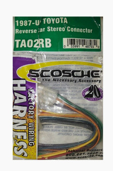 Scosche TA02RB | Factory Wring Harness | 1987-Up Toyota (Brand New!)
