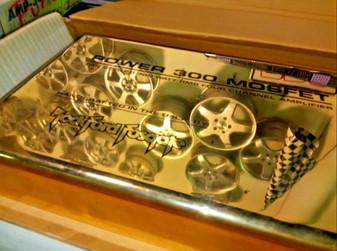 Rockford Fosgate Punch POWER 300 AMP shroud new in box! GOLD w/ BLACK OLD SCHOOL