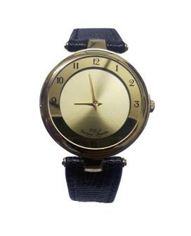 Geneva G.O.J. Gold Analog Quartz Wristwatch w/Genuine Leather (Brand New!)