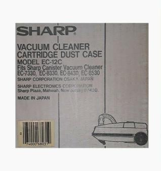 Sharp EC-12C Vacuum Cleaner Cartridge Dust Case (Factory Sealed!)