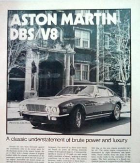 Aston Martin (V8 Saloon) Workshop Manual