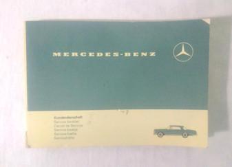 Mercedes-Benz Service Booklet