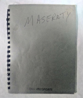 Maserati Quattroporte (228) Driving and Maintenance Instruction Guide (#AM 107)