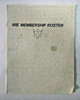 1986 Maserati MIE Membership Roster (Owner's Manual)